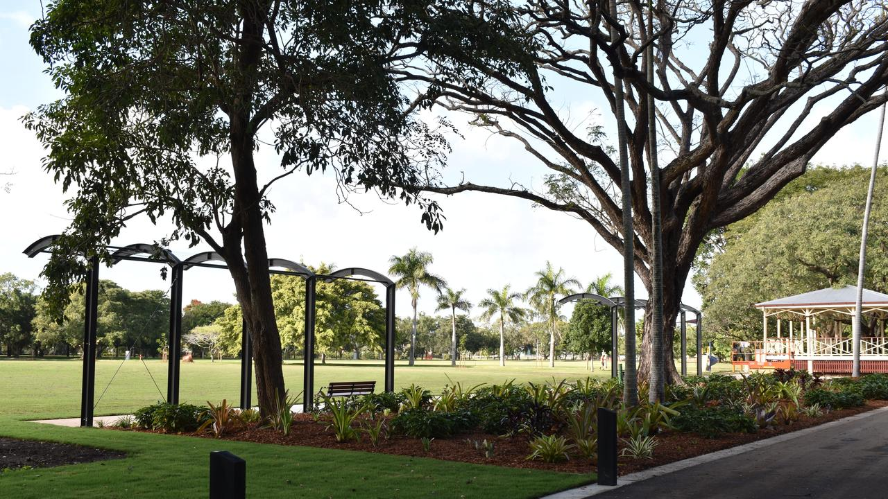 The new garden arches at Queens Park, Goldsmith St, Mackay. Picture: Heidi Petith