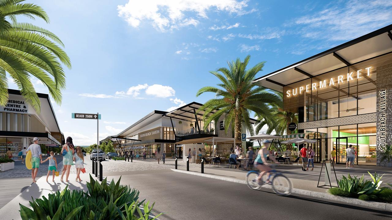 The South Beach Retail Village will include a supermarket, tavern, service station and pharmacy.