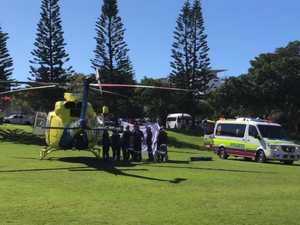 Man treated by paramedics after near-drowning