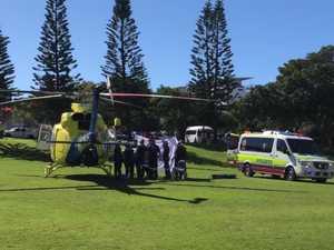 Man treated by paramedics after near-drowning