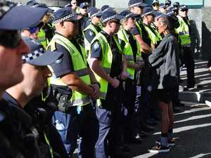 Police warn people not to attend protest