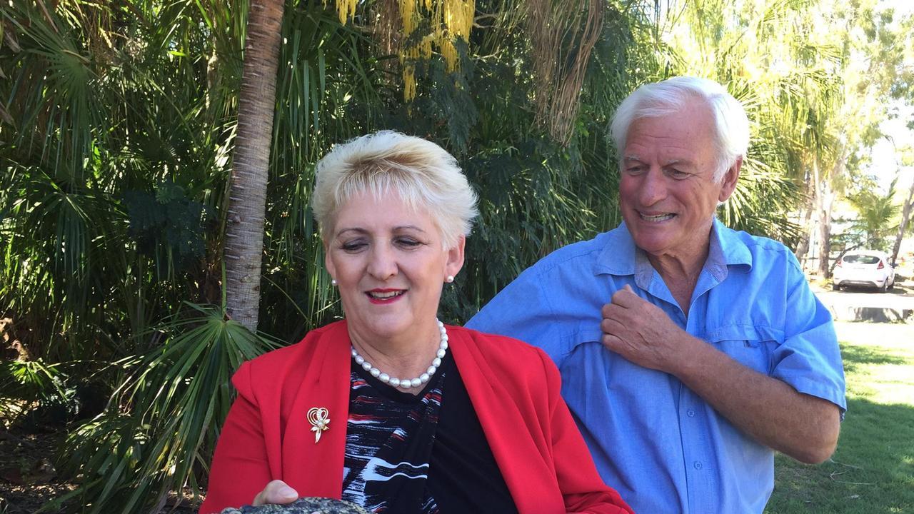 Michelle Landry with John Lever at Koorana Crocodile Farm