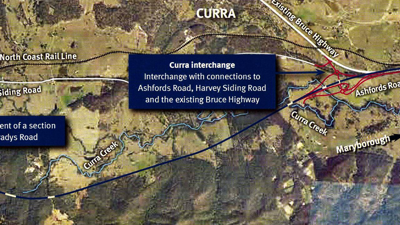 Bruce Highway Upgrade Cooroy to Curra. Section D: Woondum to Curra Map 1