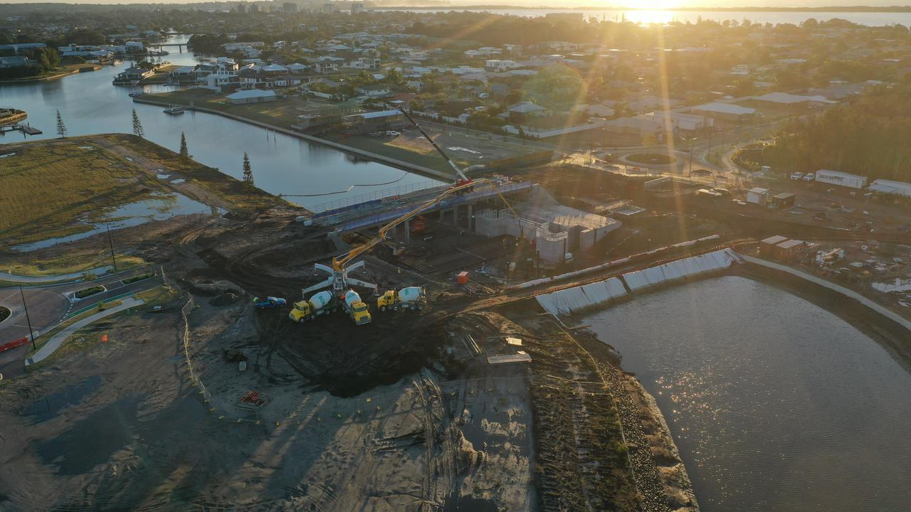 Waterfront property owners with a pontoon or jetty are just months away from having access to the Pelican Waters canals and the Pumicestone Passage as construction on the $5.5 million southern lock system nears completion.