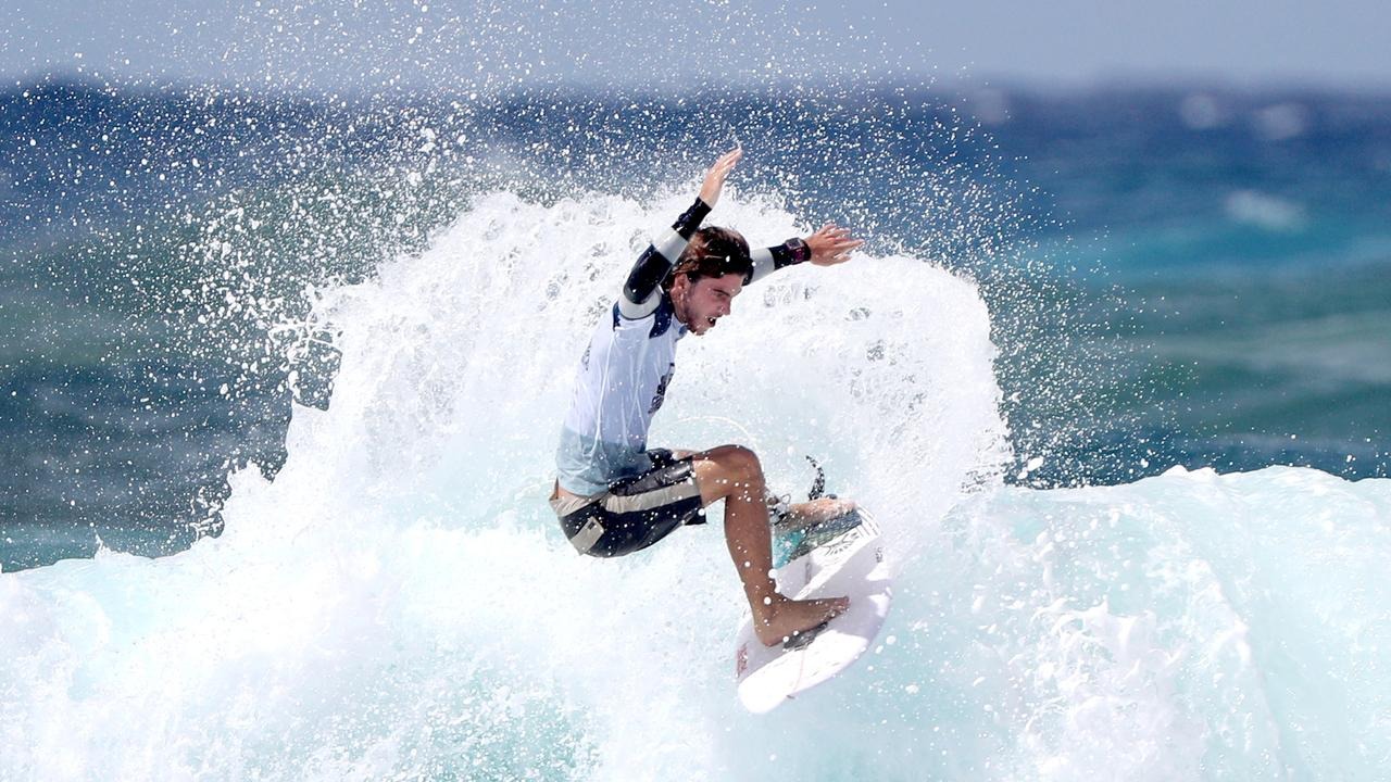 RECOVERY: Australian surfer Reef Heazlewood in action during WSL Gold Coast Quiksilver Pro at Duranbah. Picture: Nigel Hallett