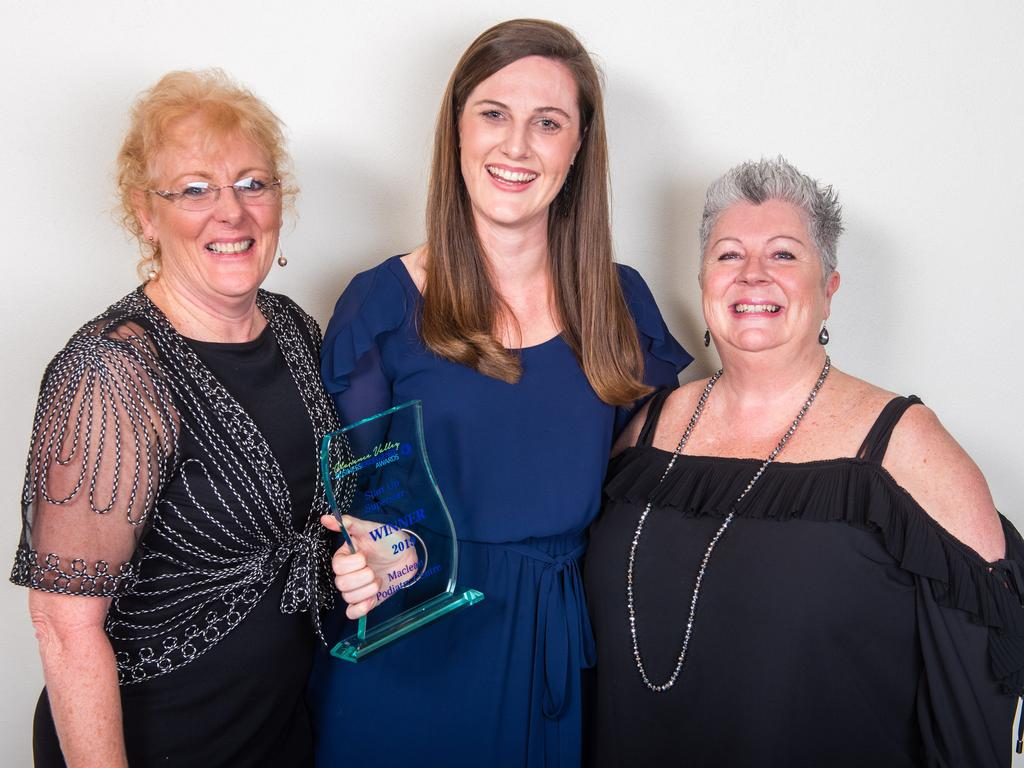 Amber Cook and her business Maclean Podiatry Centre cleaned up at the 2019 Clarence Valley Business Excellence Awards including being named Clarence Valley Business of the Year.
