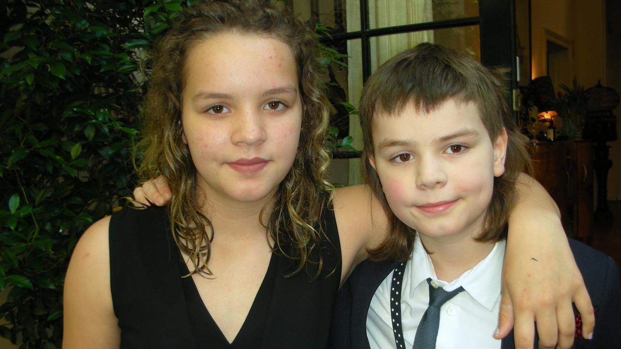 Lilly at 13 with her brother William, 11.