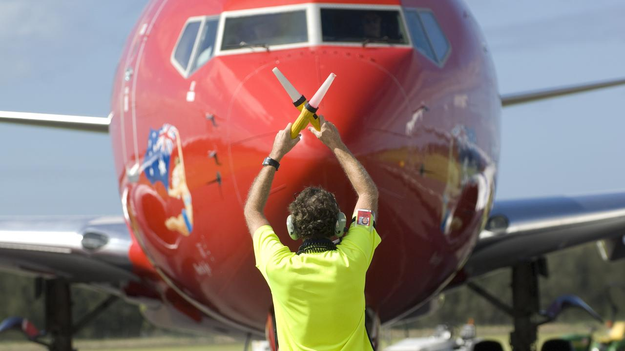 Virgin Australia Boeing 737-800 aircraft landing and taxing to the terminal at Ballina Airport in 2012. Photo Jay Cronan