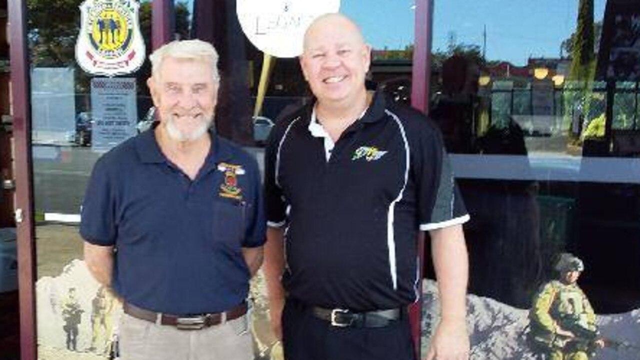 Nanango sub branch president Chas Kemp with Nanango RSL manager Kerry Mason. (Picture: Contributed)