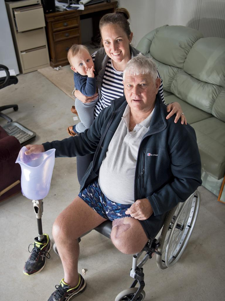 As Richard Stockley battled the infection, his daughter Amie Erickson and grandson Arthur Erickson remained by his side.