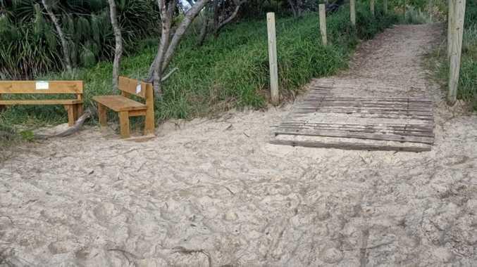 'Bureaucracy' bench wars on popular North Coast beach