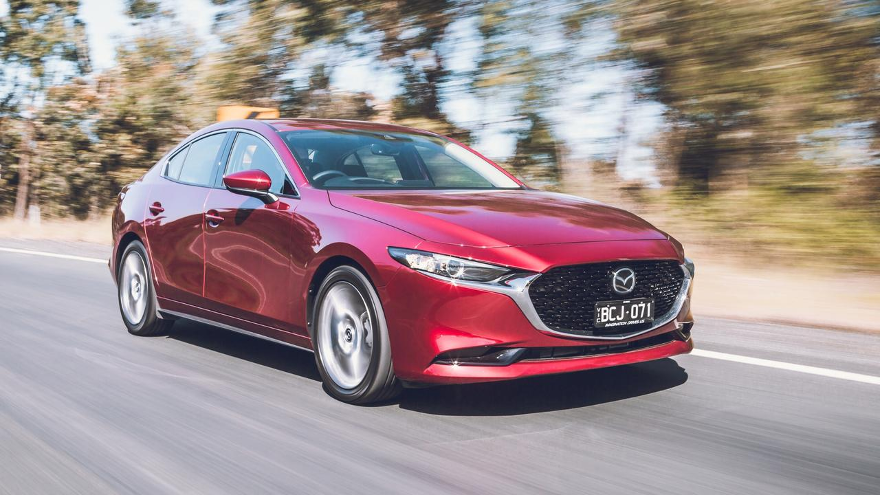 Sales of the Mazda3 plunged by more than 30 per cent. Picture: Thomas Wielecki.