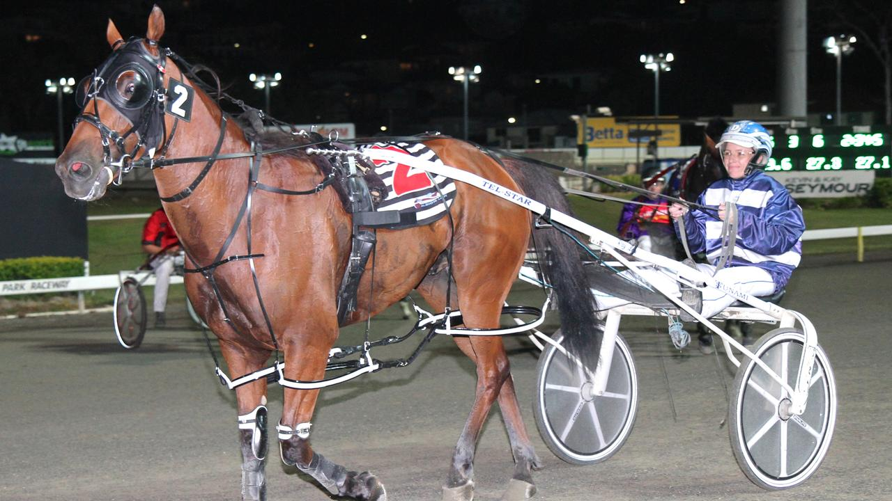 Kelli Dawson with Destreos after winning his 400th start. Picture: Dan Costello