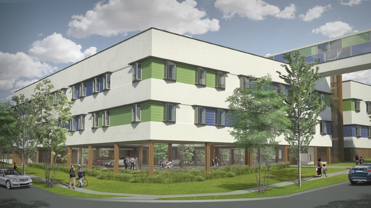 Artist impression of the acute mental health ward to be built at Ipswich Hospital.
