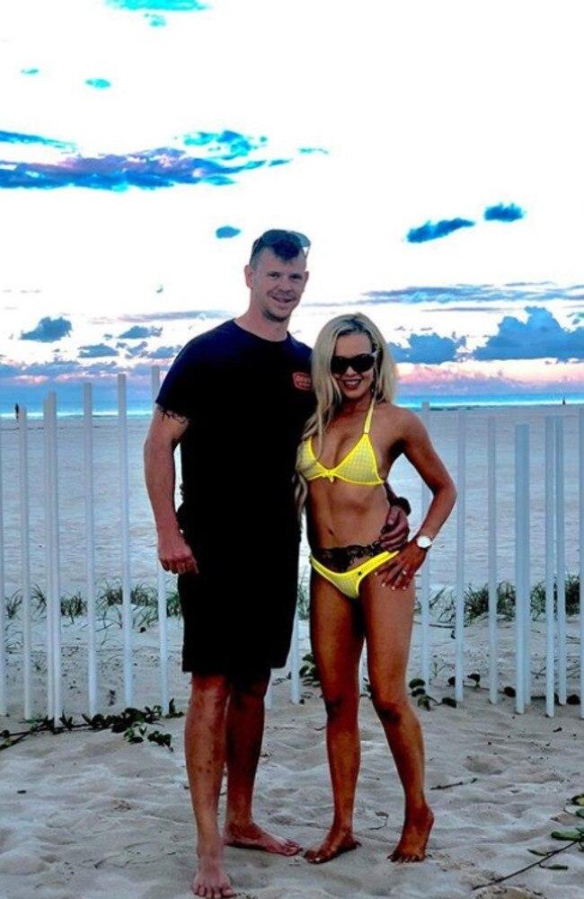 Vanessa with her husband John on their honeymoon in 2016. Picture: Vanessa Laub