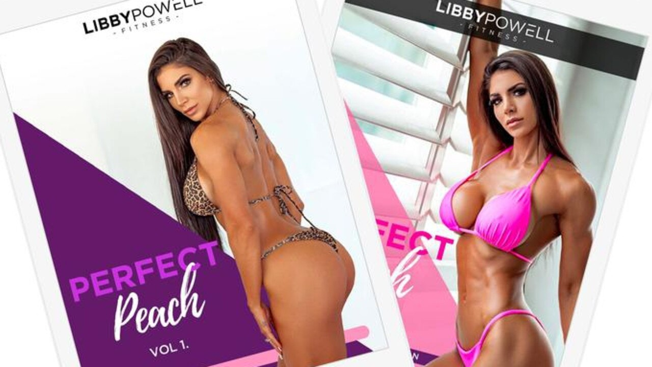 Cairns fitness model Libby Powell has just launched her first fitness training program, Perfect Peach, (pictured) and website, Libby Powell Fitness.