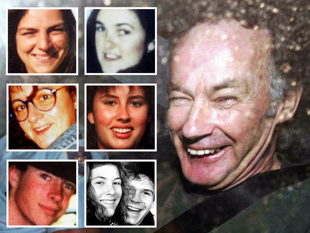 The victims of murderer Ivan Milat. Picture: AP/Rick/Rycroft.