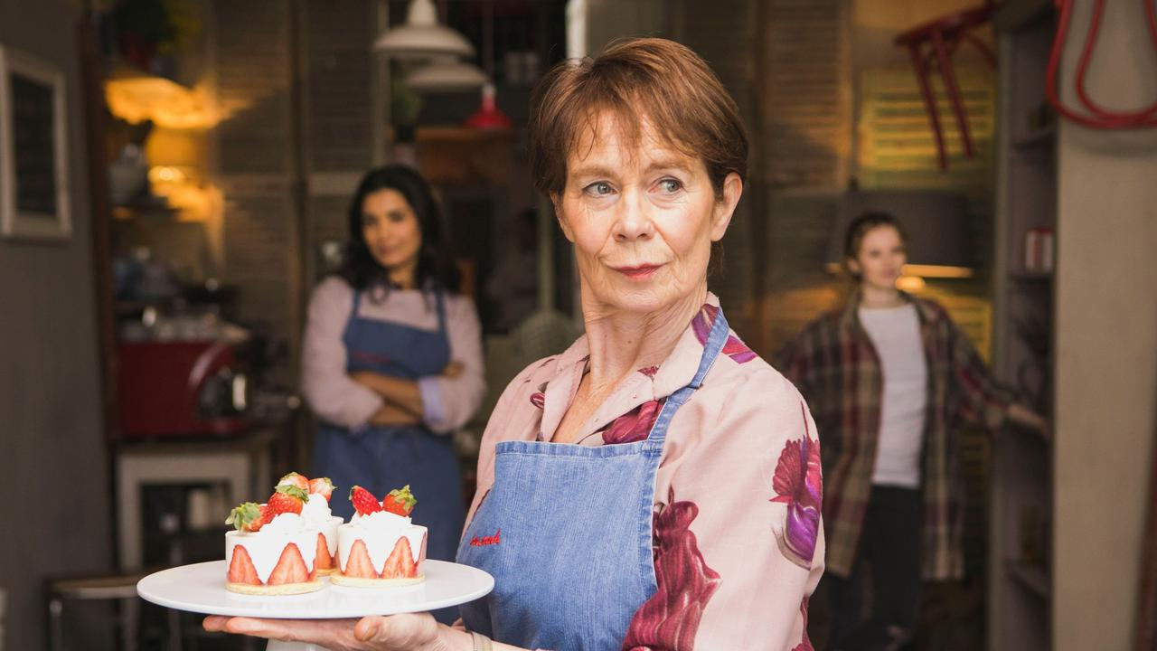 Shelley Conn, Celia Imrie and Shannon Tarbet in Love Sarah.