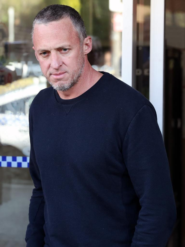 Mr Day was released from Waverley Police Station yesterday after being granted bail in court. Picture: Jonathan Ng