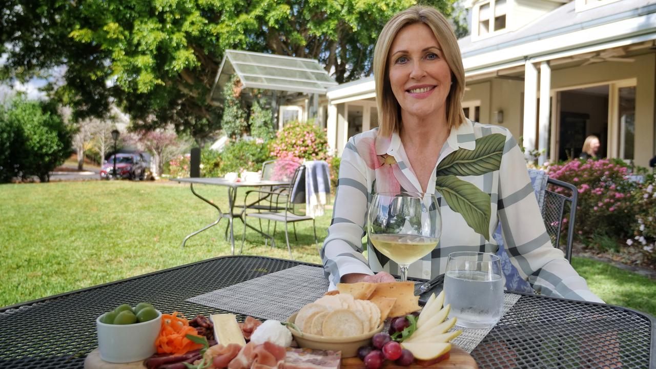 Weekender presenter Kay McGrath at Spicers Clovelly Estate in Montville. The special TV episode featuring the Sunshine Coast airs on Sunday night.