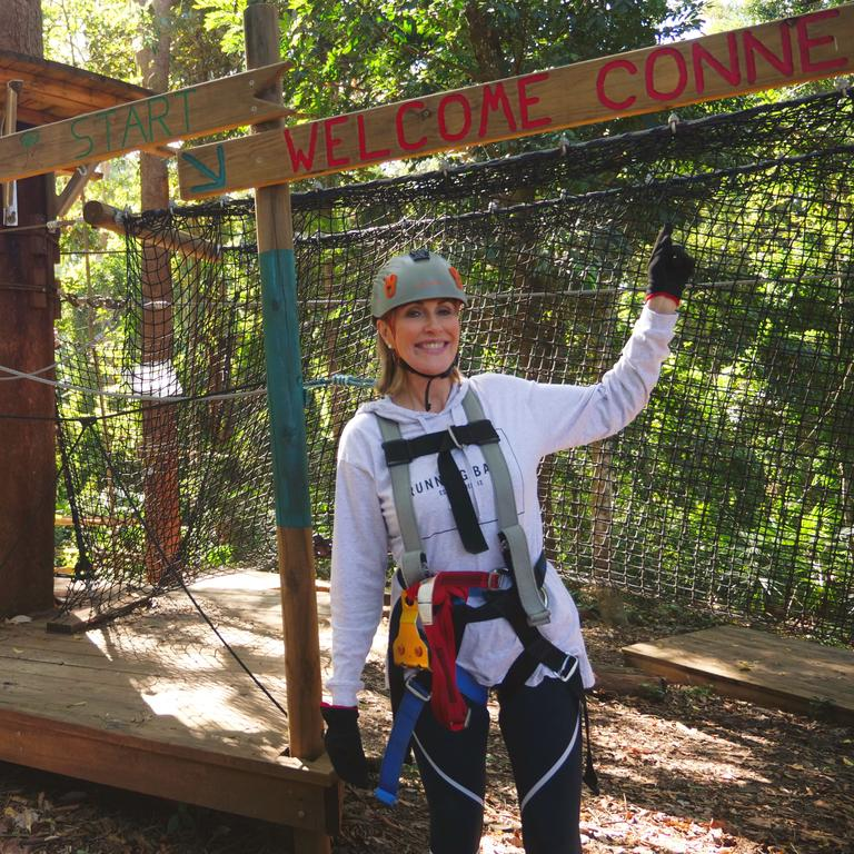 Kay McGrath at the TreeTop Challenge at the Big Pineapple.