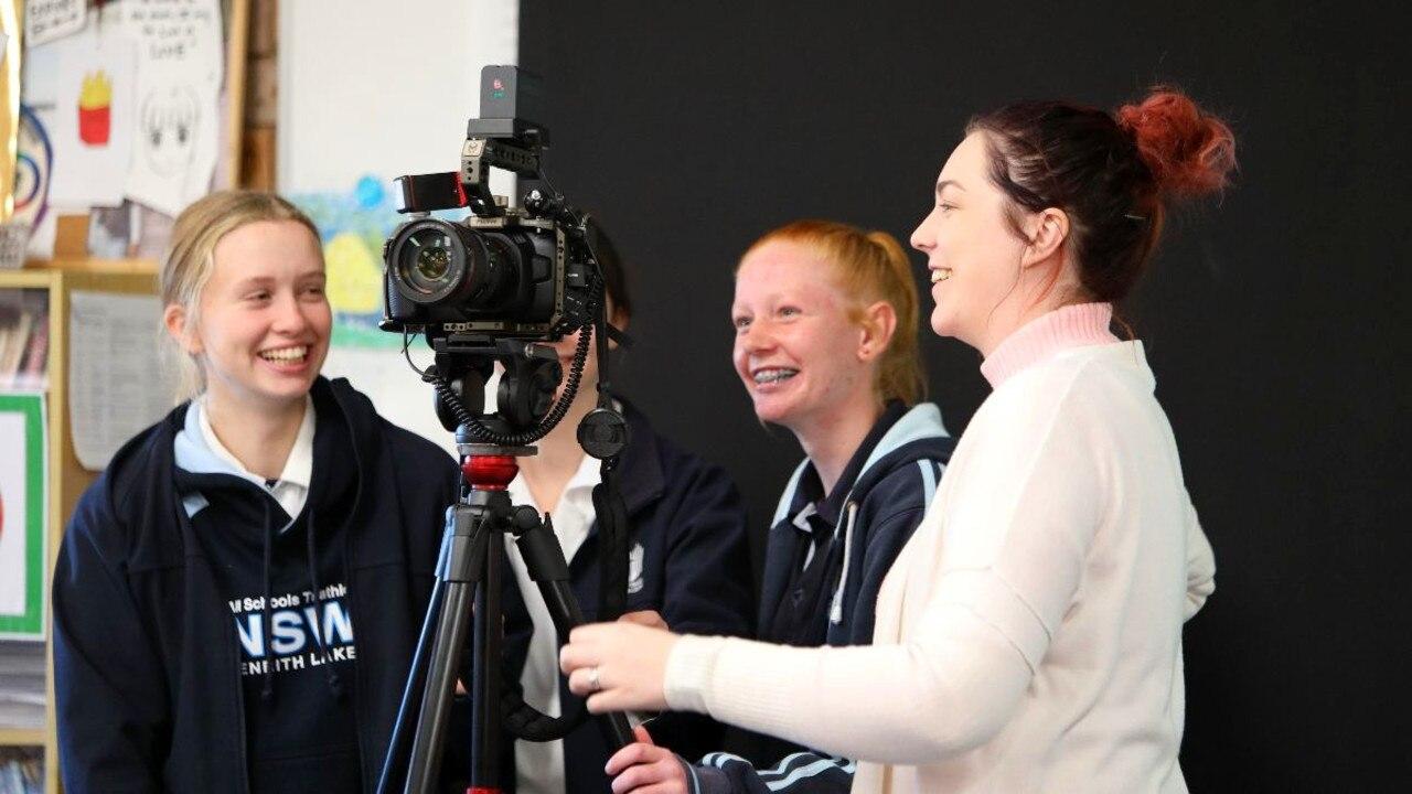 Students at a Nextwave Film Festival workshop.