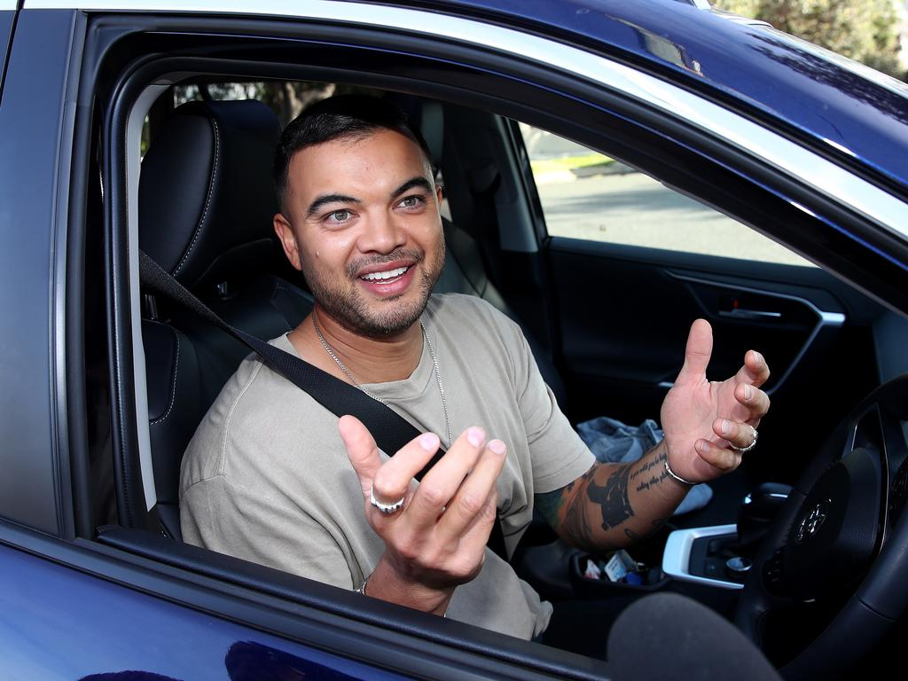 Guy Sebastian said he was letting the police deal with the matter. Picture: Toby Zerna