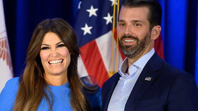 Trump Jr's girlfriend tests positive for Covid after rally