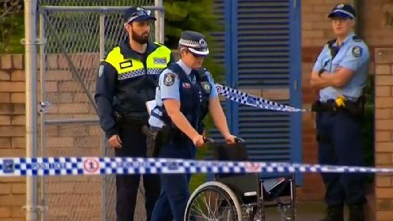The scene on Grose St in Camperdown, Sydney. Picture: Nine News