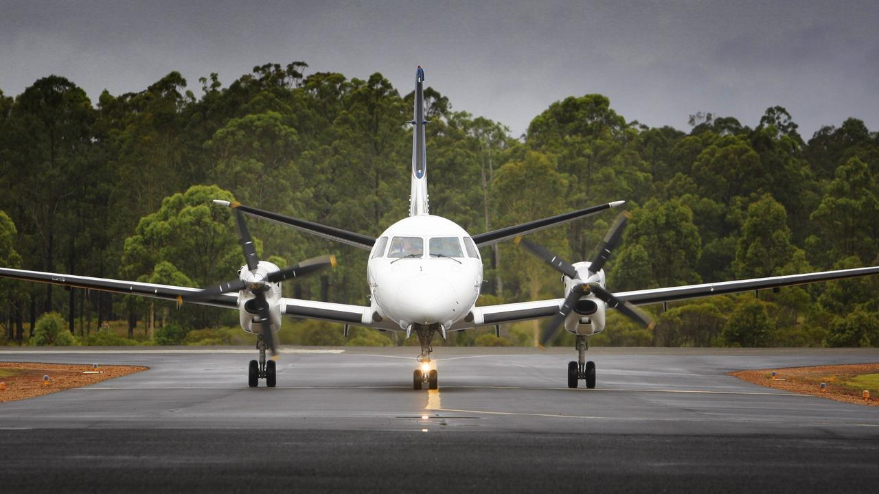 A Rex flight arrives at Grafton airport. The airline has now ceased servicing the region.