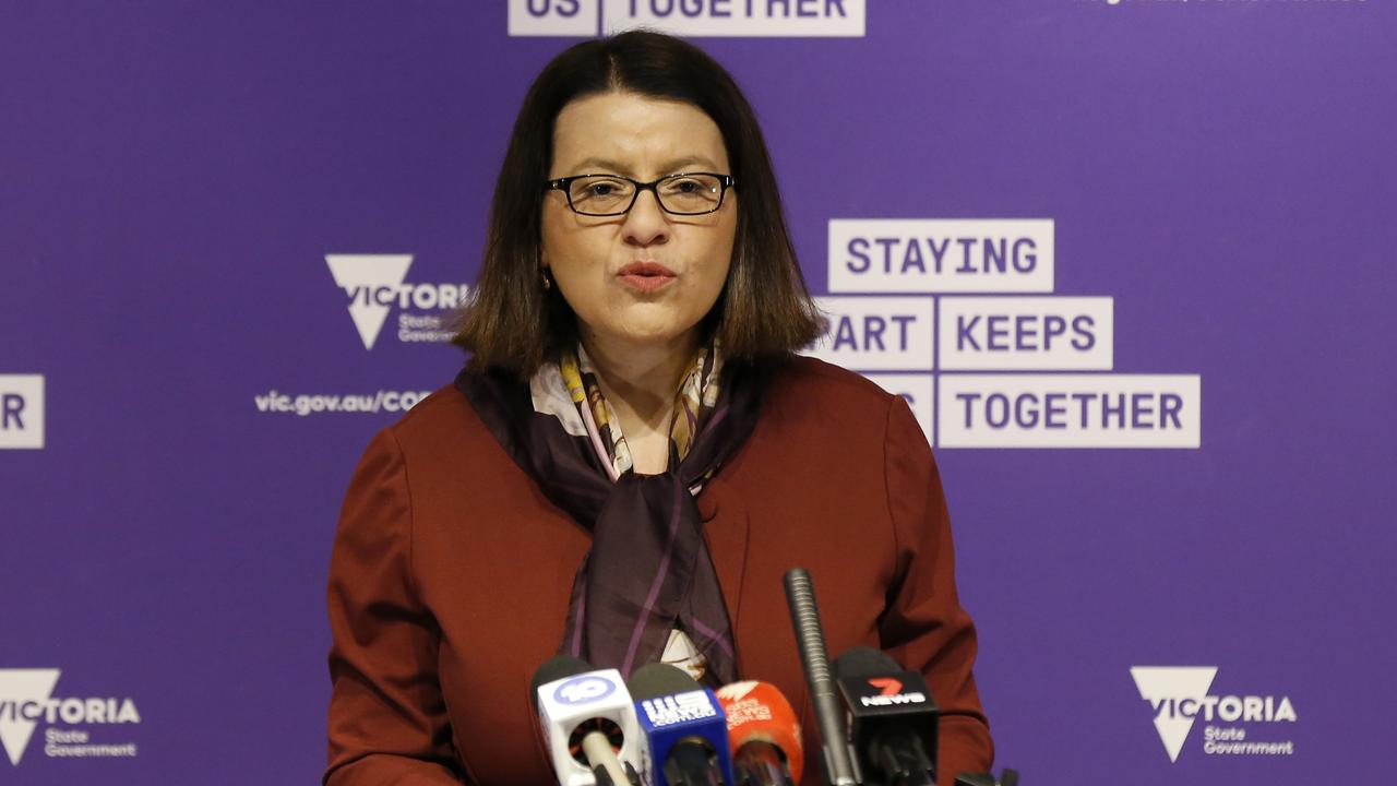 Victorian Health Minister Jenny Mikakos has condemned the COVID-19 conspiracy theories spreading on Facebook. Picture: Darrian Traynor/Getty Images