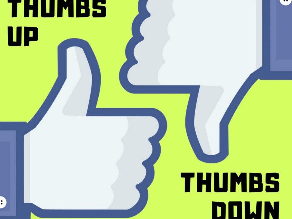 Thumbs up, thumbs down