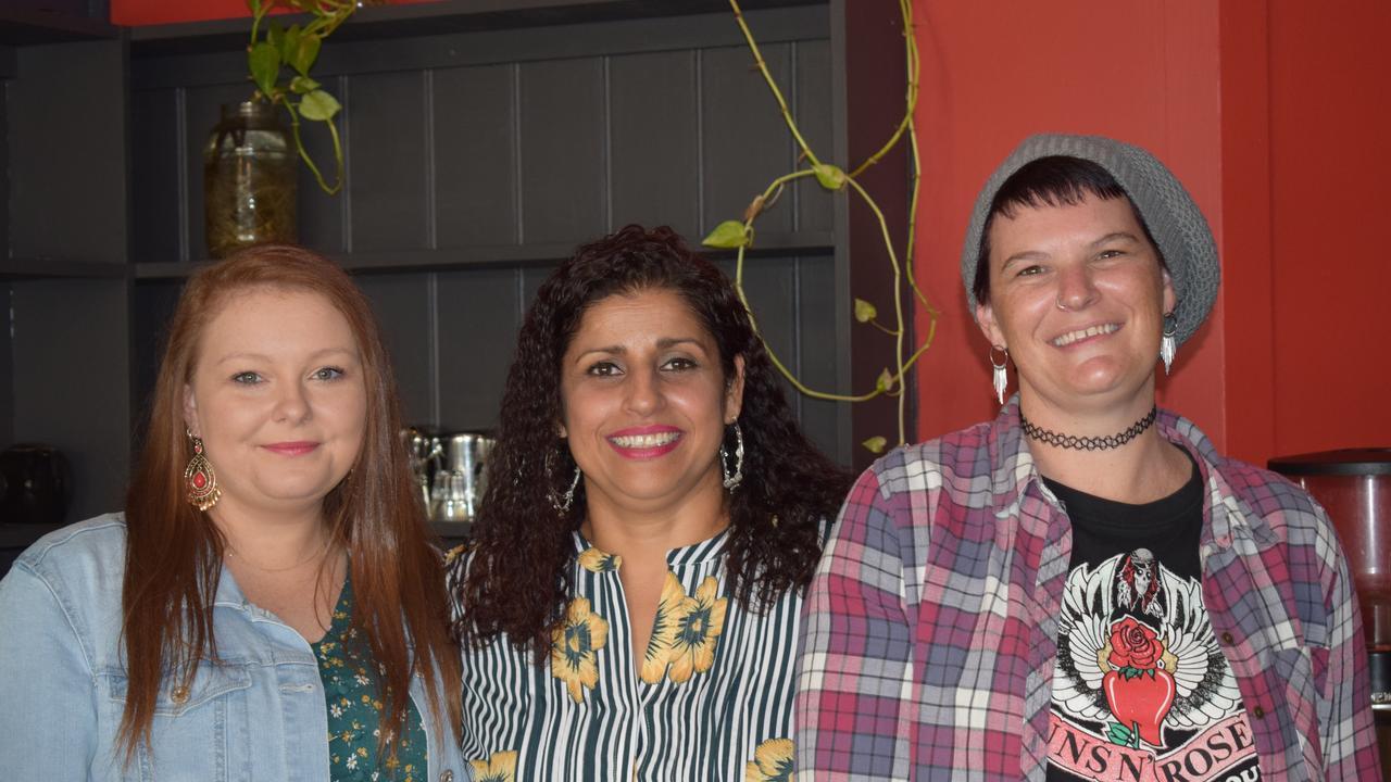 The new Craft Punk Espresso team – Alidiya Averillo, Raj Begeda, and Kaylene Pettit