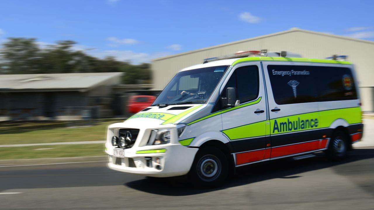 Paramedics took two people to hospital after a Kawungan crash.