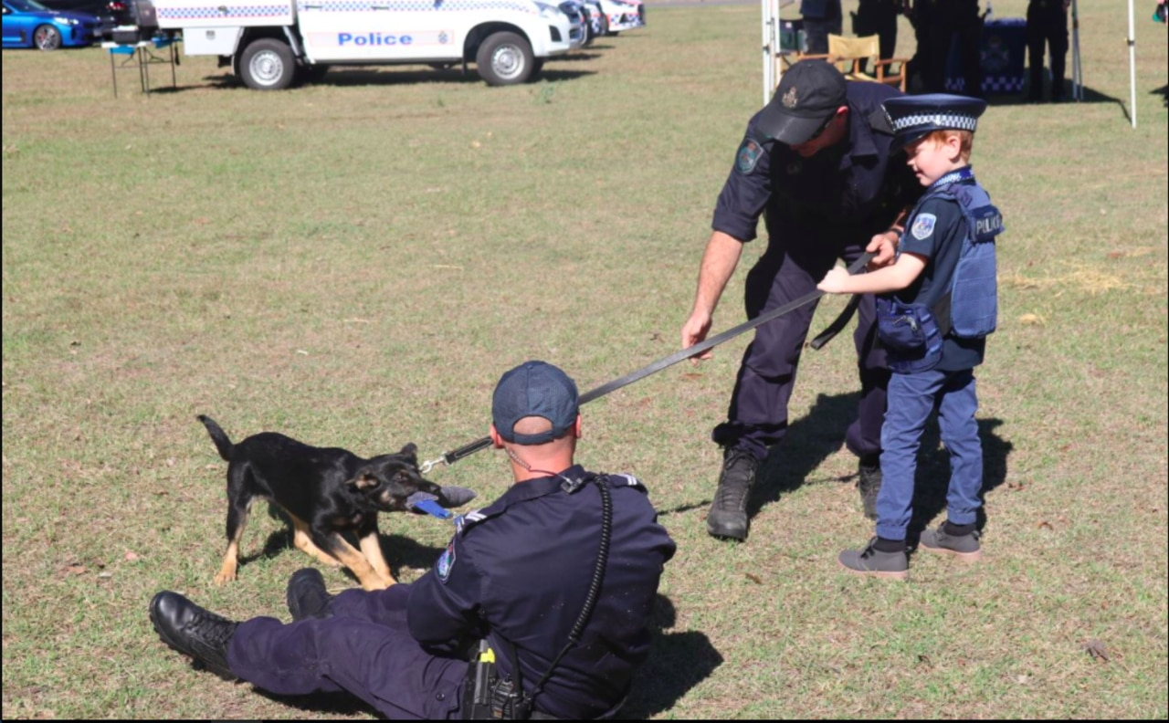 Queensland Police made Travis a special police polo to make the event as real as possible.