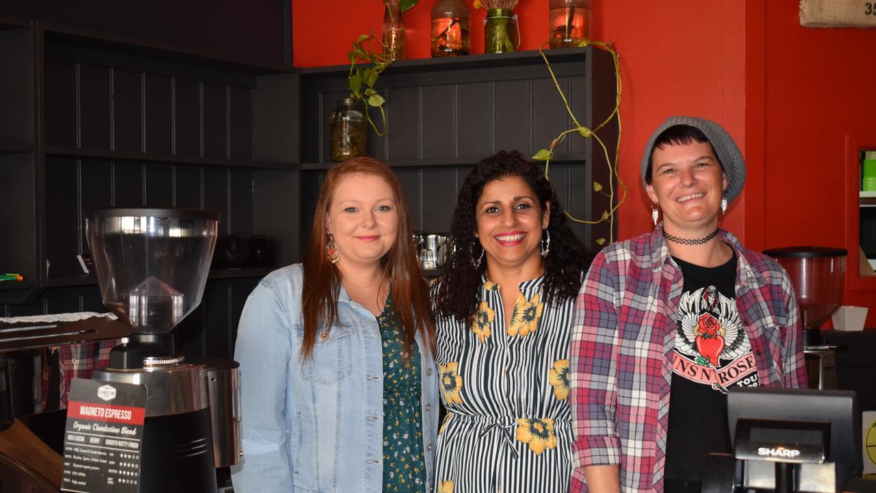 The new Craft Punk Espresso team – Alidiya Averillo, Raj Begeda, and Kaylene Pettit.