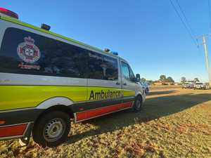 Couple hospitalised after car crashes off Bunya Hwy