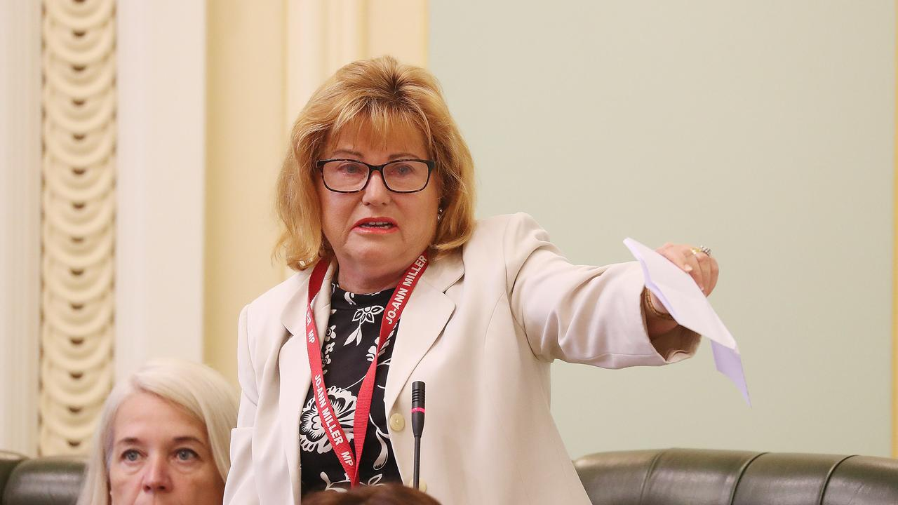 Jo-Ann Miller during her time in state parliament. Picture: Annette Dew