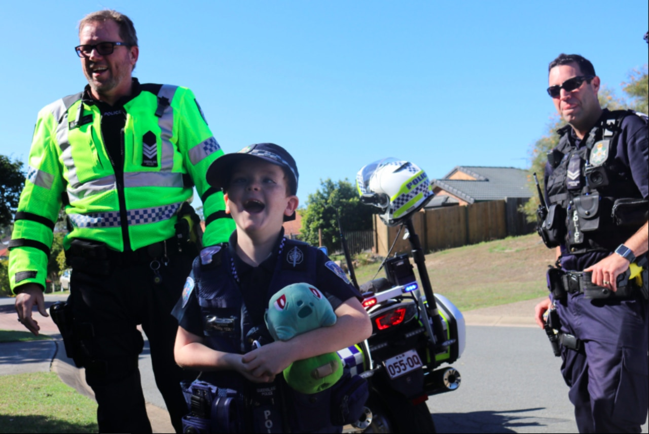 Travis had a lovely day out making his dream of being a police officer come true.