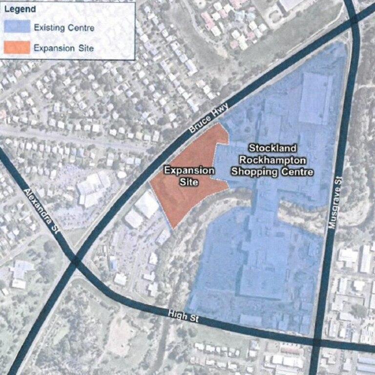 The orange site is the new development.