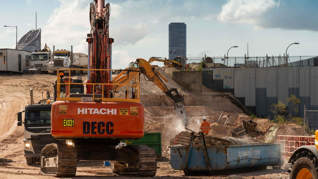 Work at the Cross River Rail Boggo Road site in May.
