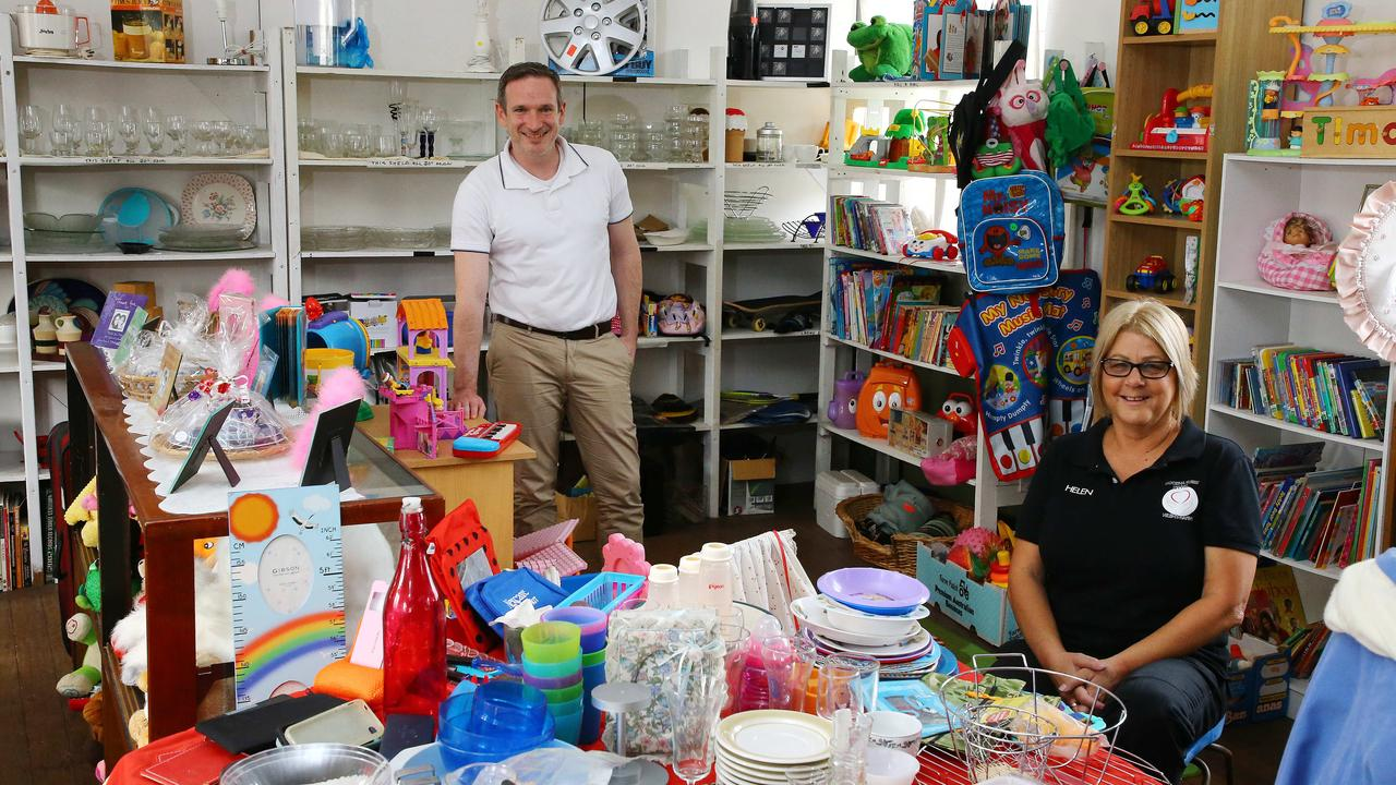 Steven Purcell and Helen Youngberry work for Goodna Street Life. Picture: Peter Cronin
