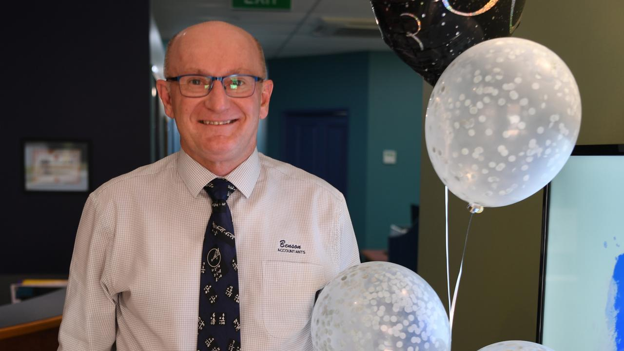 Roy Benson celebrates 30 years of his accounting firm in Rockhampton