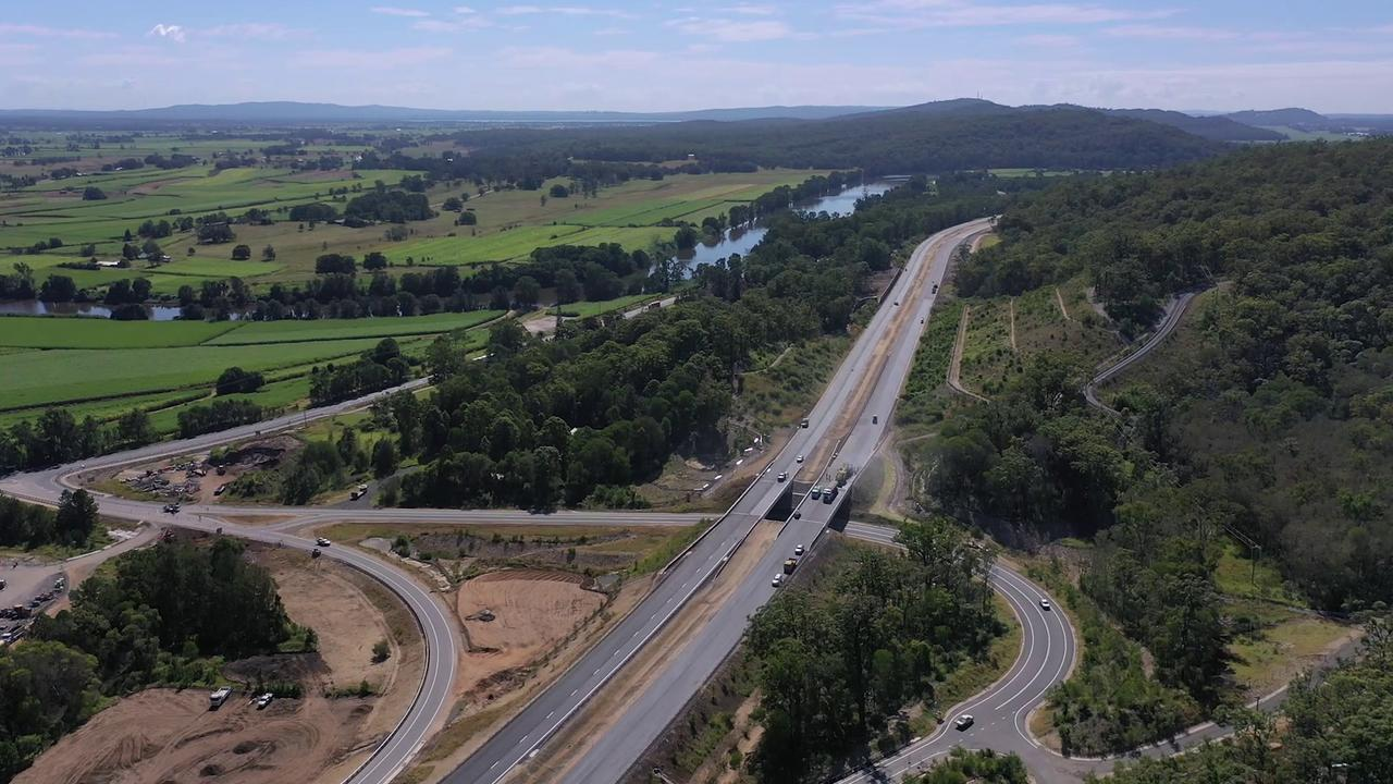 There are changes to traffic conditions on the Pacific Highway due to the highway upgrade.