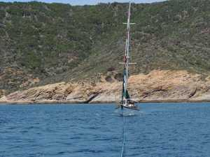 Yacht gets into a sticky situation off Great Keppel Island