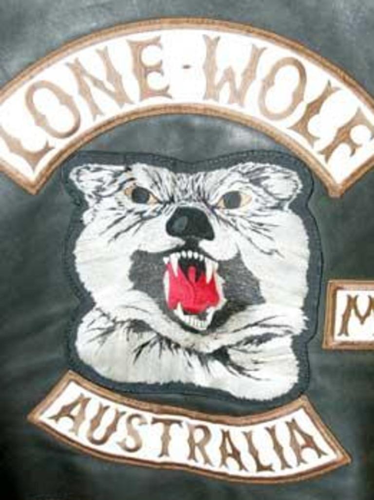 Lone Wolf bikie logo.