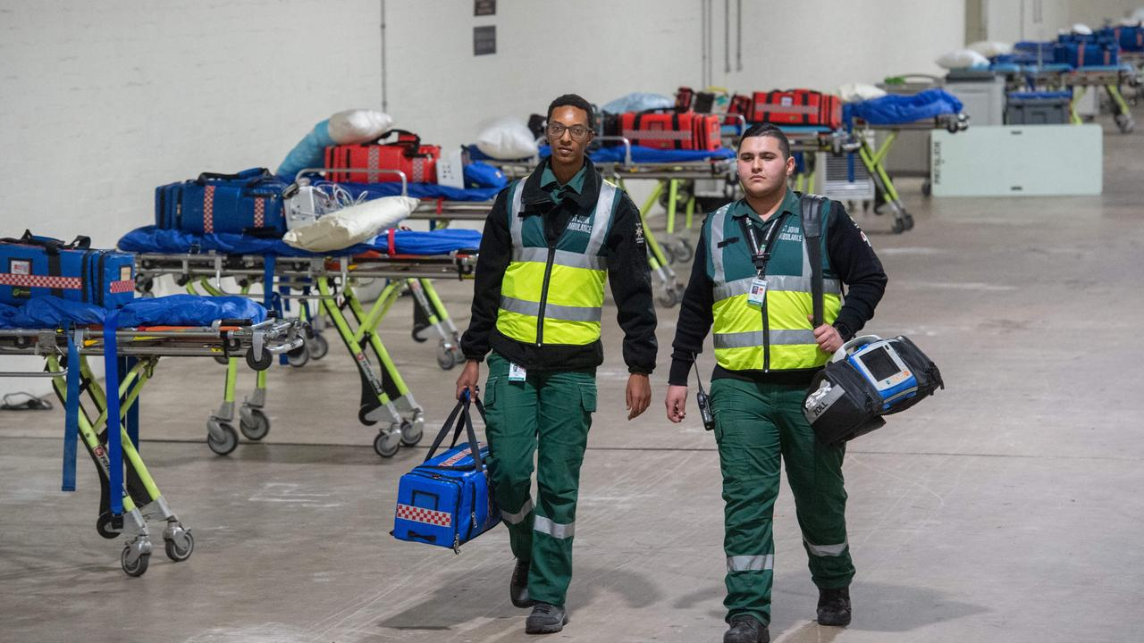 Zak Landers and Thomas Marcus from the Medical Assistance Team at St John Ambulance. Picture: Tony Gough