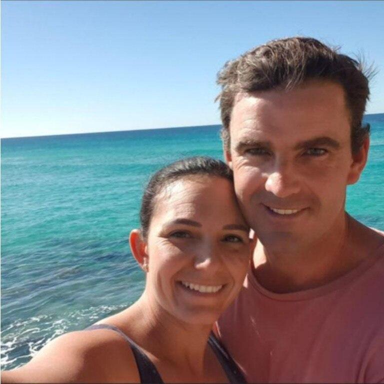 Shark attack victim Matthew Tratt and wife Kayla.