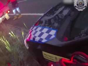 WATCH: Gladstone man fights off snake while driving