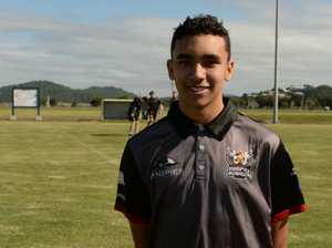Magpies Crusaders player Denzel Bobongie, 16, knows